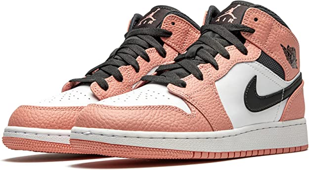Jordan Youth Air 1 Mid (Gs) Pink Quartz 555112 603 Size