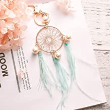 Nesee Dream Catchers Wind Domain Alloy Small Fresh Metal Keychain Dream Catcher Key Chain Bag Pendant Girl Gift