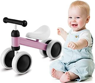 MammyGol Baby Balance Bikes Children Walker 10-36 Months No Pedal Infant 4 Wheels Baby Bike for 1 Year Old Toys Toddler Bicycle First Birthday Gift