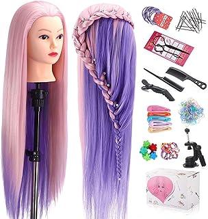 "Mannequin Head with Hair, TopDirect 29"" Hair Mannequin Manikin Head Hair Practice Cosmetology Hair Doll Head Styling Haird..."