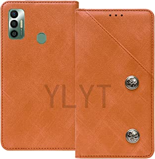 YLYT Business Shockproof - Brown Flip Leather Retro Cover With Stand Wallet Case For Tecno Spark 7 Pro 6.6 inch With Card ...
