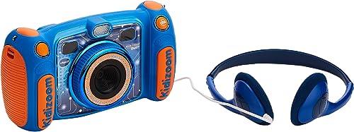 VTech – Kidizoom Duo 5.0 – Bleu – Appareil Photo Enfant – Appareil Photo Numérique – Version FR