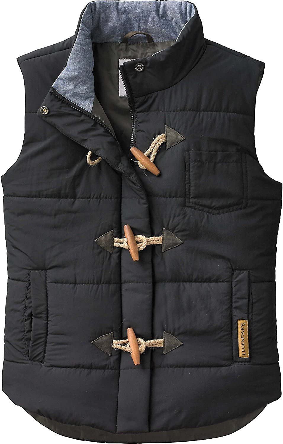 Legendary Whitetails Womens Quilted Vest (Black 1X)