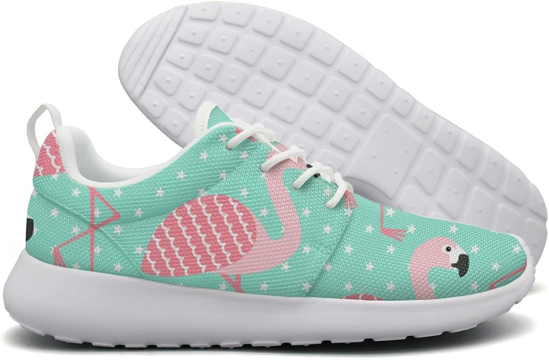 Flamingo Star Pattern Womens Flex Mesh Casual shoes Women