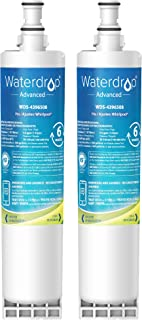 Waterdrop 4396508 NSF 53&42 Certified Refrigerator Water Filter, Compatible with Whirlpool 4396508, 4396510, 4392857, Kenmore 46-9010, NLC240V, EveryDrop Filter 5, EDR5RXD1, PUR W10186668, Pack of 2