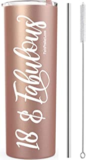 18 & Fabulous 20 Oz Stainless Steel Rose Gold Tumbler   happy 18th birthday decorations   18th birthday gifts for girls   18 birthday decorations for girls   Eighteenth Birthday Party Supplies Paris