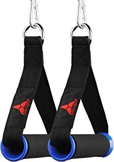 Upgraded Grip Wide Design Resistant Ultra Heavy Duty Handles with Solid ABS Cores, Durable Carabiners, Super Strong Nylon Webbing, and Heavy Gauge Welded D-rings