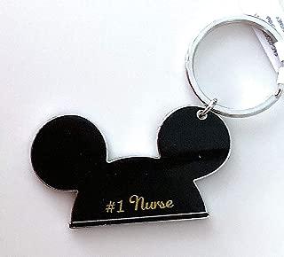 Walt Disney World Mickey Mouse Ears #1 Nurse Metal Keychain