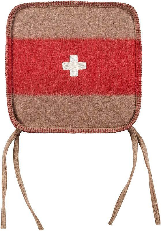 Swiss Army Chair Cushion 15x15 Brown Red