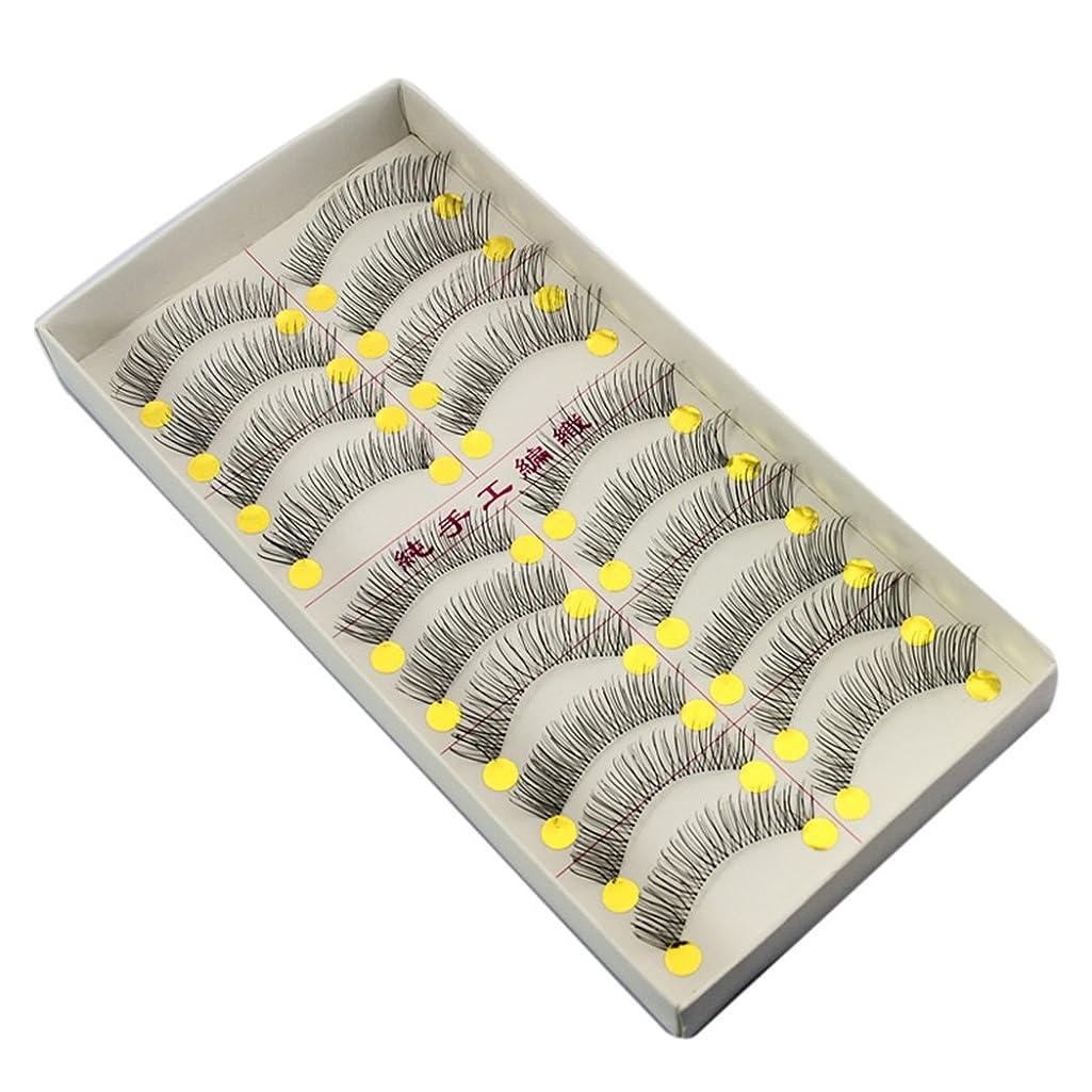 発見する動的アクセス(inkint)上まつげ用 防水型 アイラッシュ カール用 ハンドメード(10ペア入り)ナチュラル バリューパック クロスミディアム