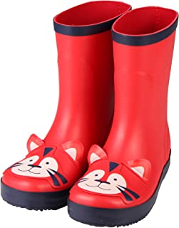 LOVELYRAINY Rain Boots for Kids and Toddlers,Waterproof Lightweight Kids Rain Boots in Fun Patterns for Boy and Girls