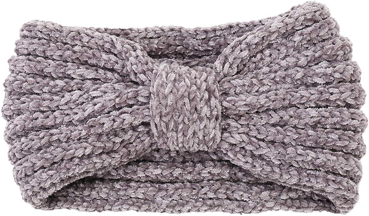 ba knife Winter Knitted Headband Crochet Turband Ear Warmer Winter Braided Head Wraps for Women Girls