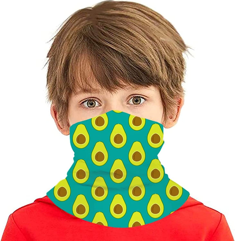 Raleigh Mall avocado pattern Kids Neck Gaiter Washable Bal Mask Year-end gift Face Bandanas