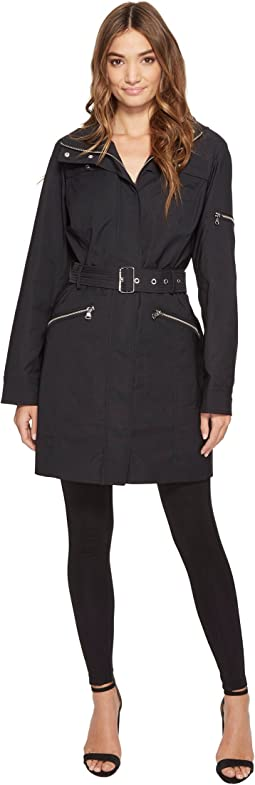 Vince Camuto - Hooded and Belted Trench