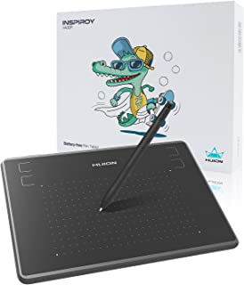 HUIONペンタブレット携帯接続アップグレード可能、4.8 * 3インチイラスト入門用、 osuゲーム用 4096レベル筆圧バッテリーフリーペン H430P