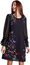 YUMI Butterfly and Floral Print Tunic Vestido para Mujer