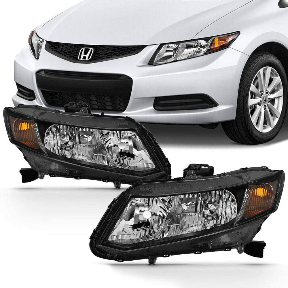 NEW Headlights Headlamps Assembly Civi with Compatible 2012-2015 Ranking TOP14 Challenge the lowest price of Japan ☆