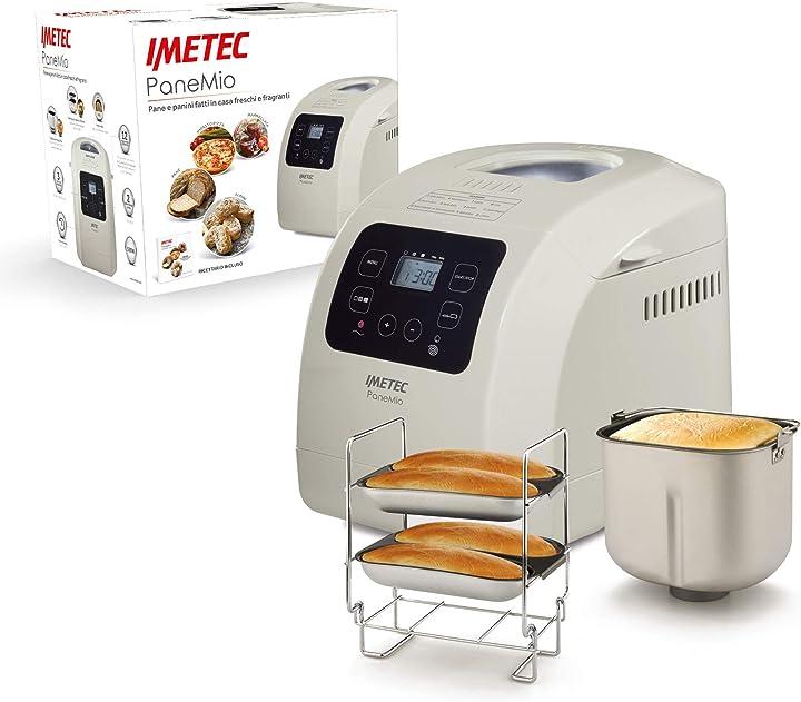 Macchina del pane, impasta lievita e cuoce, 12 programmi  550 w, ricettario panini a 3 livelli doratura BM1000