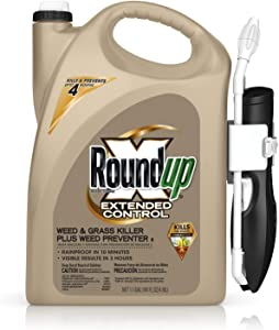 Roundup 5101910 Weed Preventer II with Comfort Wand Ready-to-Use Extended Control Weed & Grass Killer Plus, 1.1 GAL