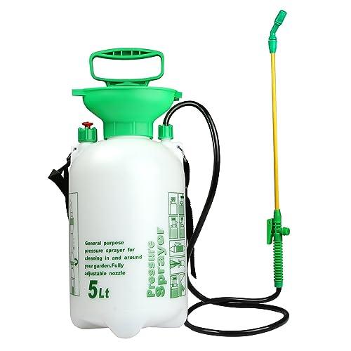 VOXON 5L Pump Action Pressure Sprayer, Garden Knapsack Sprayer