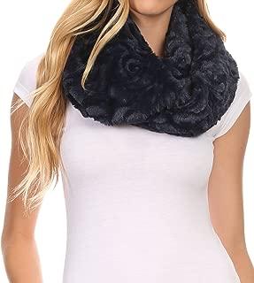 Mellah Long Wide Soft Fuzzy Furry Fur Infinity Fall Winter Wrap Scarf