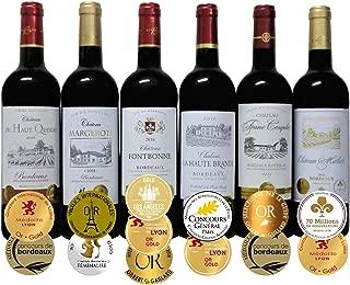 ALLダブル金賞受賞(トリプル金賞入) 赤ワイン6本セット フランス ボルドー産 ソムリエ厳選 750ml×6本