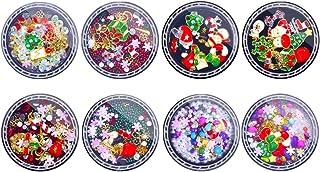 Beaupretty 8 Caixas de Natal 3D Encantos Da Arte Do Prego Prego Natal Charms Alloy Manicure Christams Árvore Do Boneco de ...