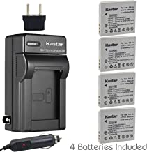 Kastar Battery (4-Pack) and Charger Kit for Canon NB-4L, CB-2LV and Canon PowerShot SD1000 SD1100IS SD1400IS SD200 SD30 SD300 SD400 SD430 SD600