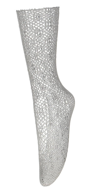 EOZY レディース ソックス 膝下丈 透かし彫り ショートストッキング 靴下 無地 美脚 網タイツ 通気性抜群 フリーサイズ