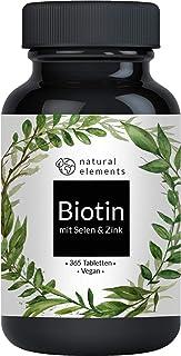 Biotin + Selen + Zink - 365 vegane Tabletten - Premium Verbindungen z.B. von Albion® - Ohne Magnesiumstearat, laborgeprüft