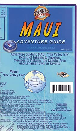 Maui (Hawaii) 1:180 000 Map Guide with Lahaina street plan, waterproof, FRANKO, 2012 edition