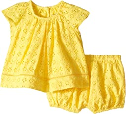 Eyelet Cotton Bloomer Set (Infant)