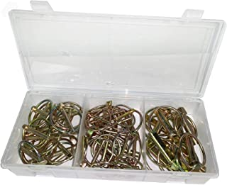 ENA 50 Pieces of Assorted Lynch Pin Kit 4 sizes for Cars Trucks Trailers ATV Mowers Farm Equipment