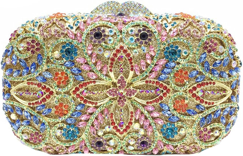Icegrey Crystal Rhinestone Evening Clutch Handbag Purse for Women
