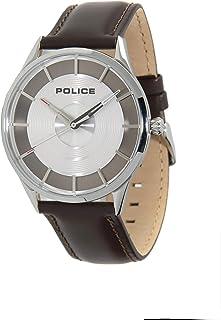 بوليس ساعة رسمية انالوج بعقارب للـرجال ، جلد - P 15399JS-04