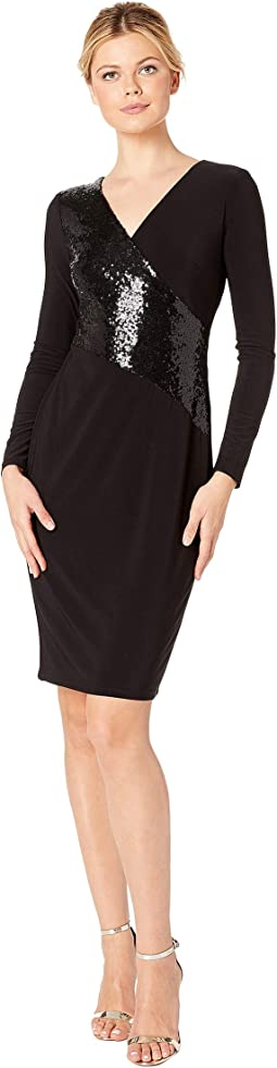 4R Matte Jersey Jodi 3/4 Sleeve Day Dress