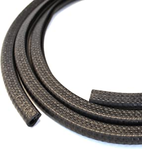Edge Trim Black Small, Fits Edge 1/16 to 1/8 Inch, Length 10 Feet (3.05 Meter)