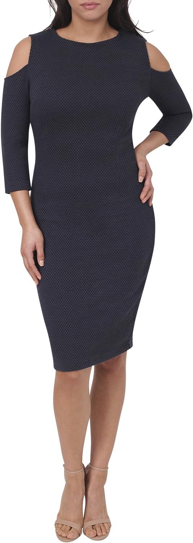 Eva Longoria Collection Scoop Neck Cold Shoulder Body Conturing Dress