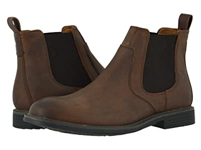 Johnston & Murphy Hollis Chelsea Boot (Tan Oiled Full Grain) Men