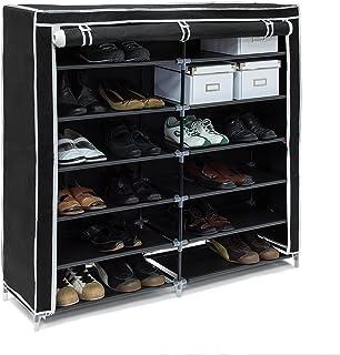 Relaxdays 10019126  Meuble à chaussures VALENTIN Housse tissu étagère armoir chaussures 7 Étages pour environ 36 paires de...