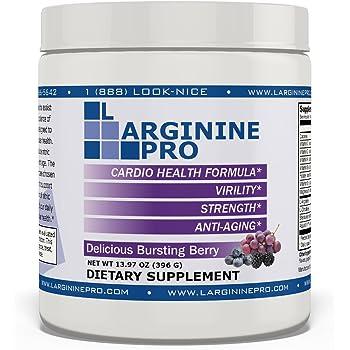 L-arginine Pro, L-arginine Supplement - 5,500mg of L-arginine Plus 1,100mg L-Citrulline (Berry, 1 Jar)