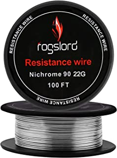 Resistance Wire Ni 90 100 ft 22 Gauge Nichrome 90 AWG 0.64mm 22g 100'