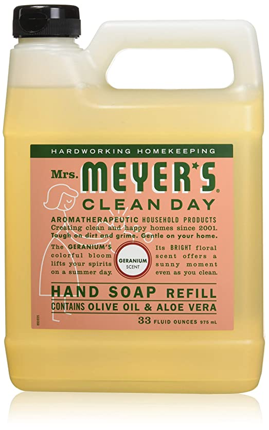 Mrs. Meyer's: Liquid Hand Soap Refill Jug-Geranium, 33 oz by Mrs. Meyers Clean Day