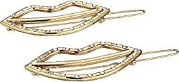 Jewel Lip Motif Duo Hair Pin Set