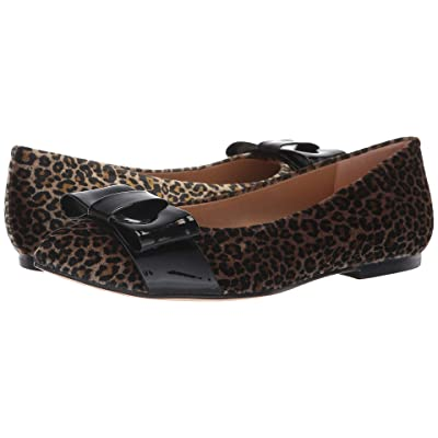 French Sole Onstage (Leopard Velvet/Black Patent) Women