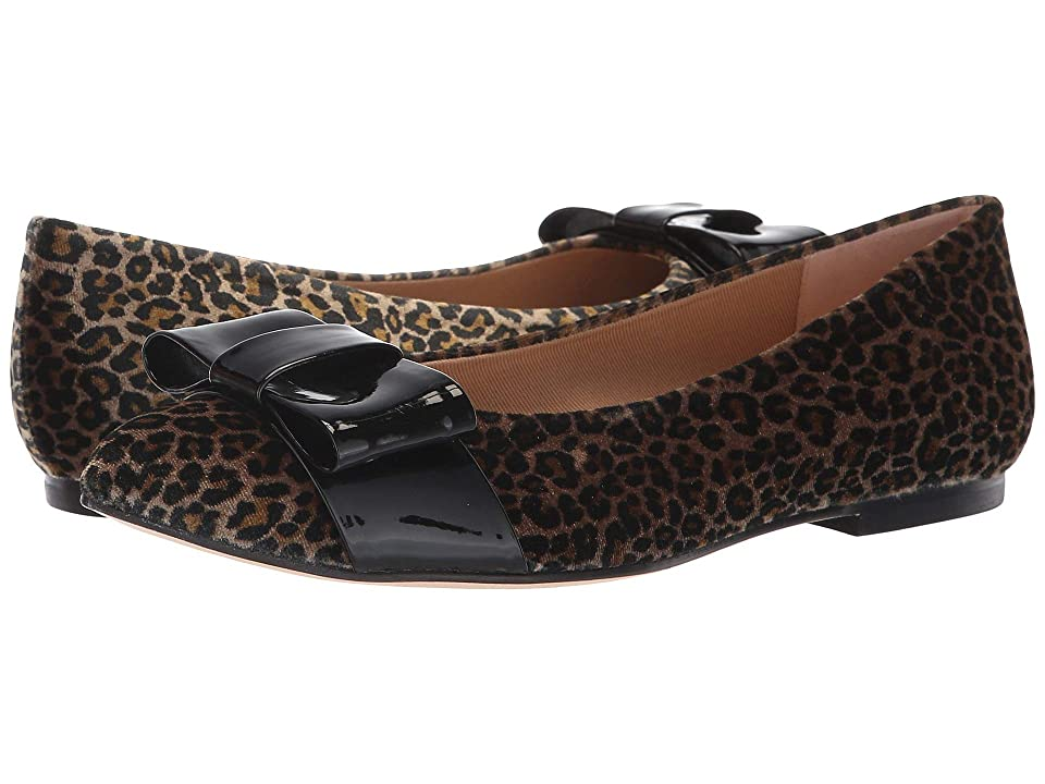 French Sole Onstage (Leopard Velvet/Black Patent) Women