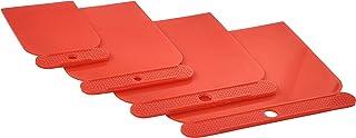 Amtech G0946 Filler Applicator Kit, 4-Piece Plastic Scraper Set, Lightweight, Reusable and Easy to Clean, Sizes 50, 80, 10...