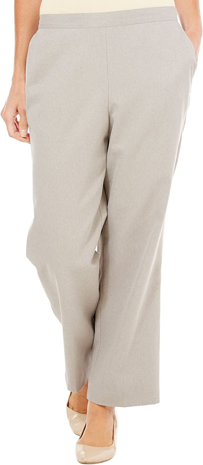 Alfred Dunner Women's Glacier Lake Flat Front Pants Raspberry Ice (18)