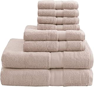 Madison Park Signature 800 Gsm 100% Cotton Piece Luxury Absorbent Hotel Bathroom Towel Set Shower Hand Face Washcloths, Assorted Sizes, Blush 8