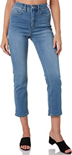 Riders By Lee Women's Womens Hi Slim Crop Curve Jean Cotton Polyester Rayon Blue